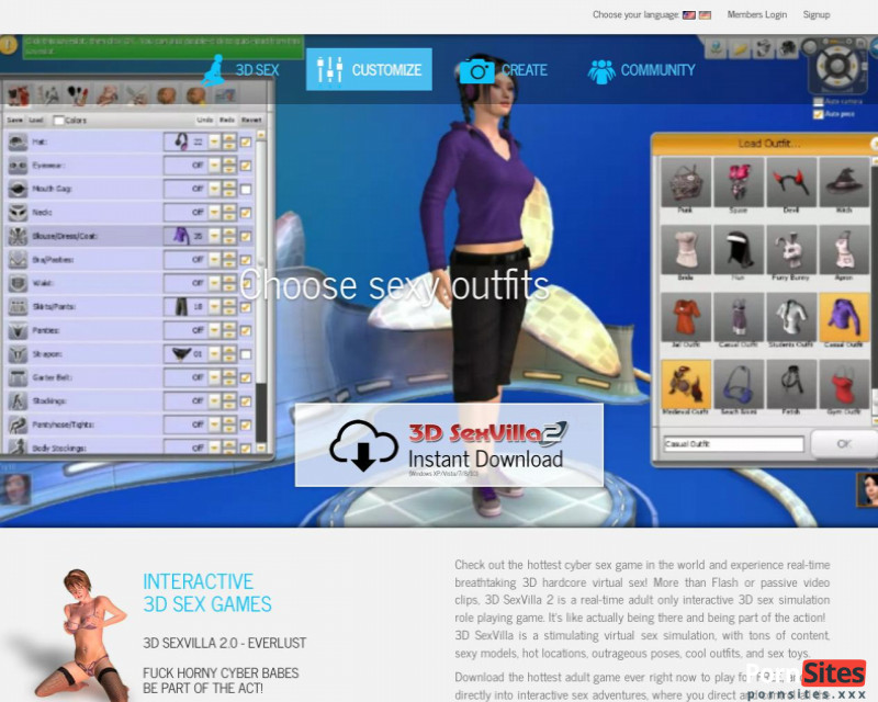 3D Sex Villa2 Webseite Vom 20. Januar 2021