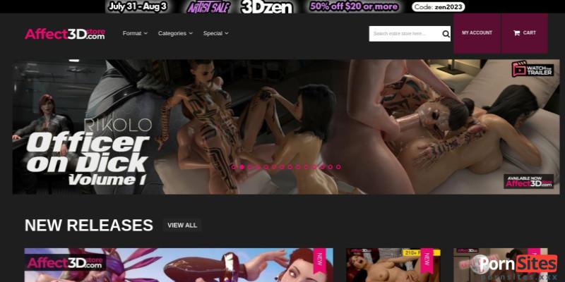 Screenshot Affect 3D Store