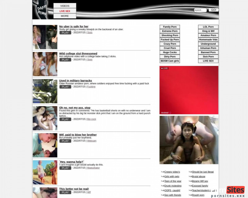Screenshot Daftporn
