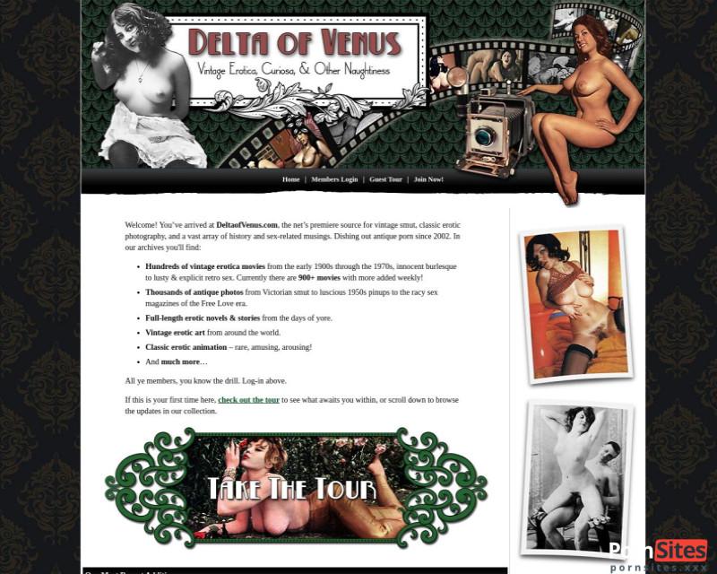 Delta of Venus Website From 16. January 2021