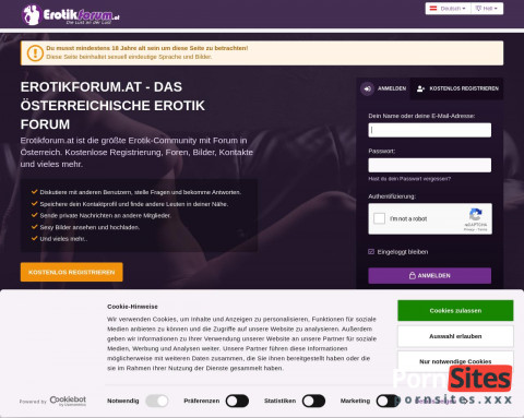 Screenshot Erotikforum.at