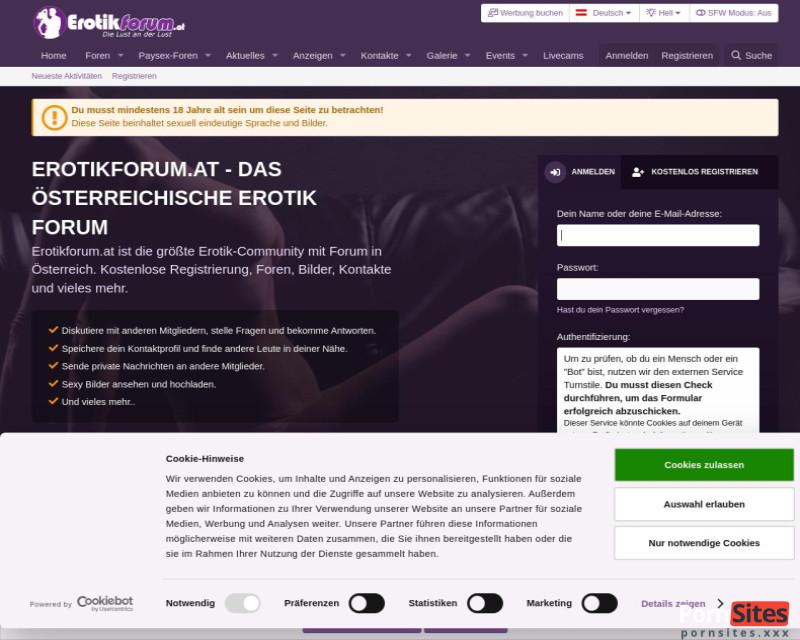 Erotikforum.at Website From 15. January 2021