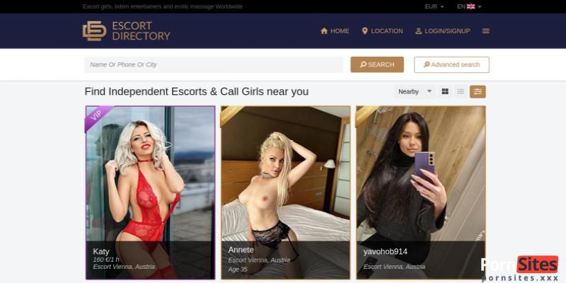 Screenshot Escort Directory