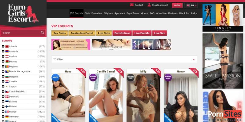 Screenshot Euro Girls Escort