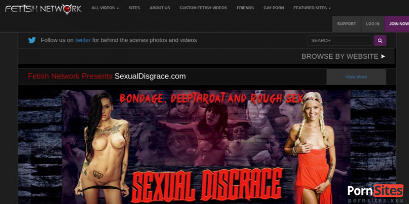 Screenshot Fetish Network