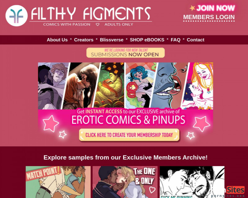 Filthy Figments Website From  1. March 2021