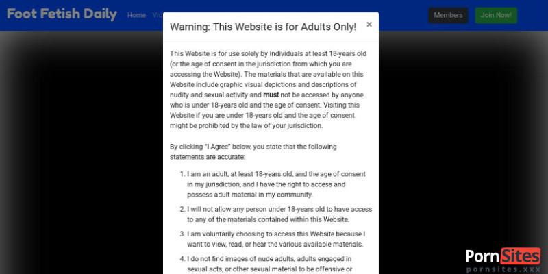 Screenshot Foot Fetish Daily