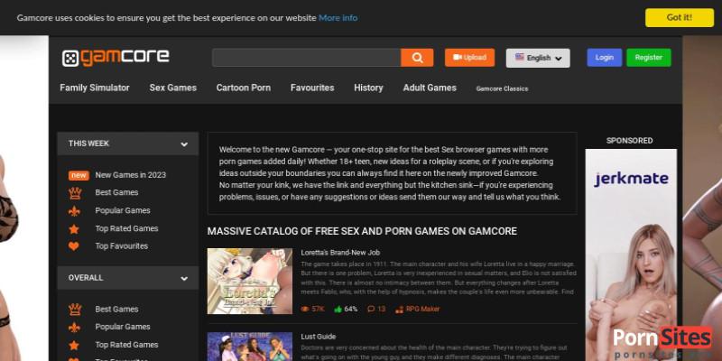 Screenshot Gamcore