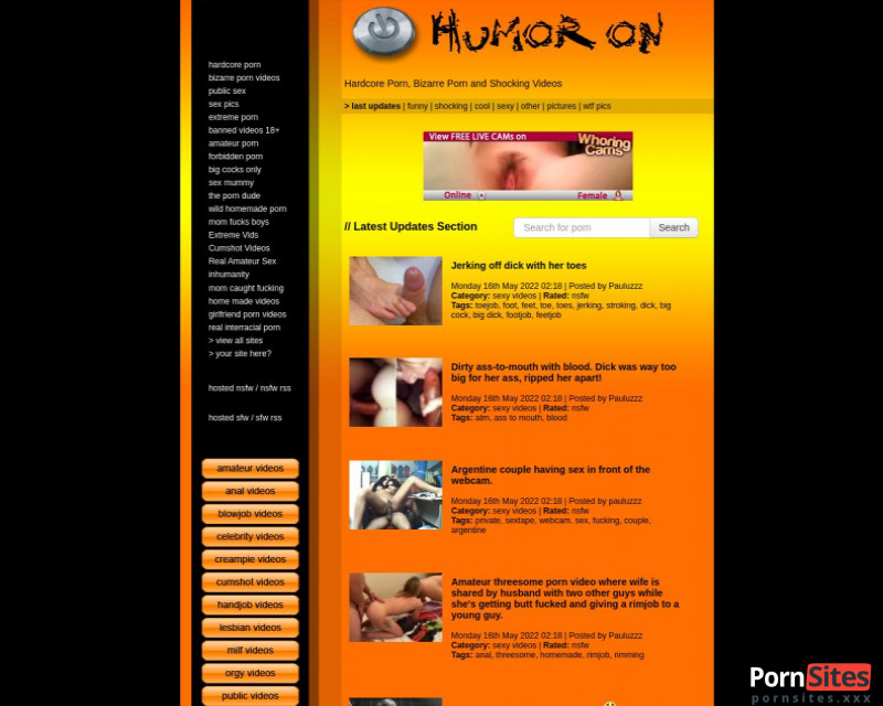 HumorOn Website From 20. January 2021