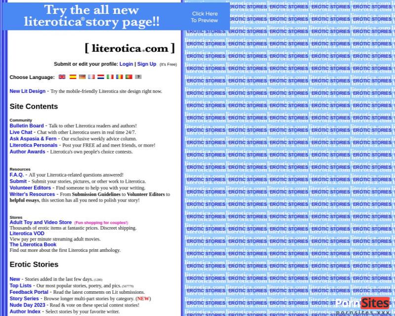 Sito web Literotica da 18. febbraio 2021