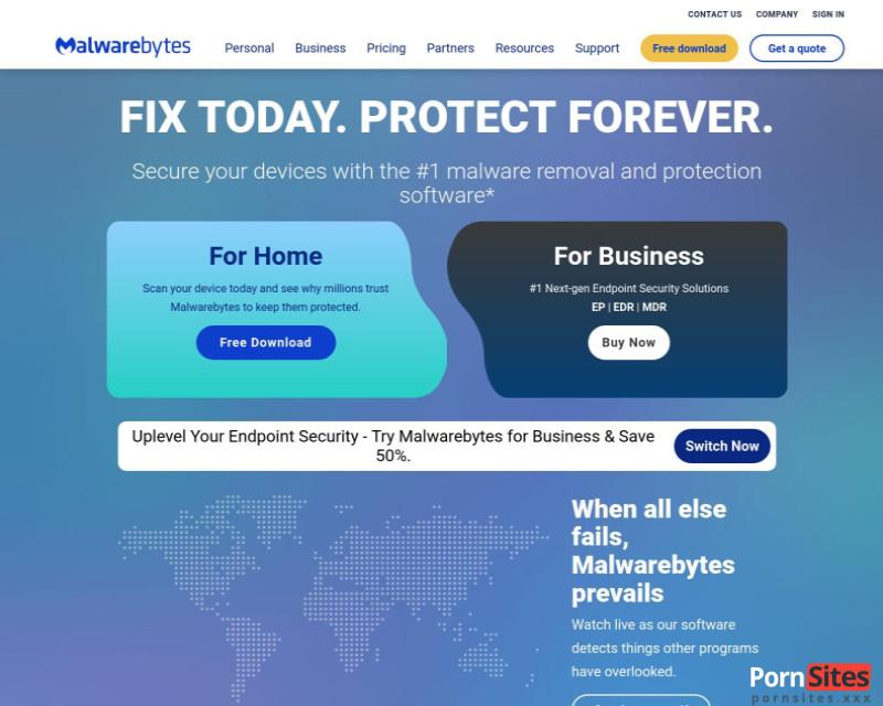 Malwarebytes Website From 24. January 2021