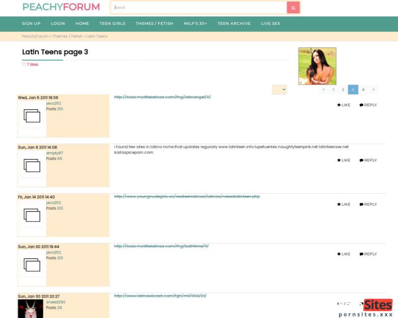 Screenshot Peachy Forum