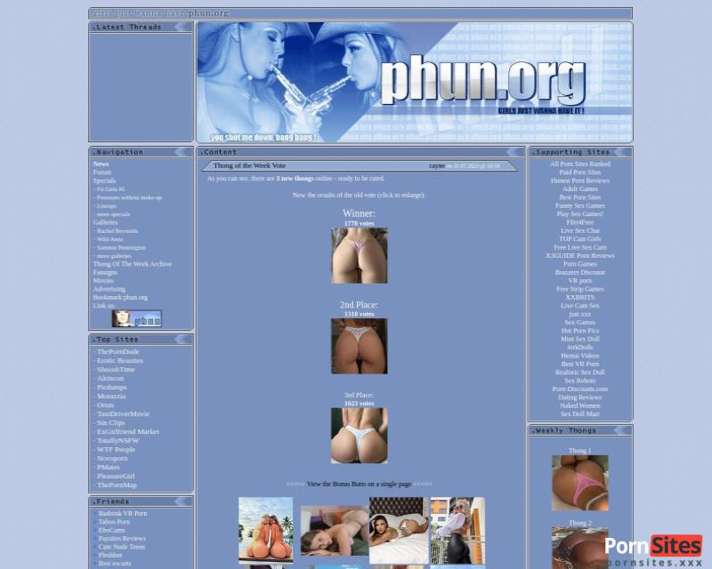 Phun Sitio web de  4. marzo 2021