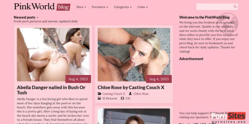 Screenshot PinkworldBlog