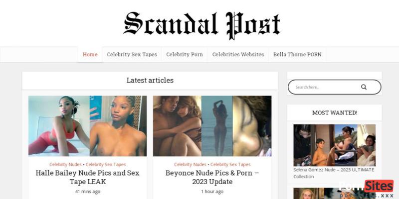 Screenshot ScandalPost