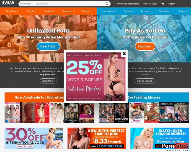 Sugar Instant Website From 23. February 2021