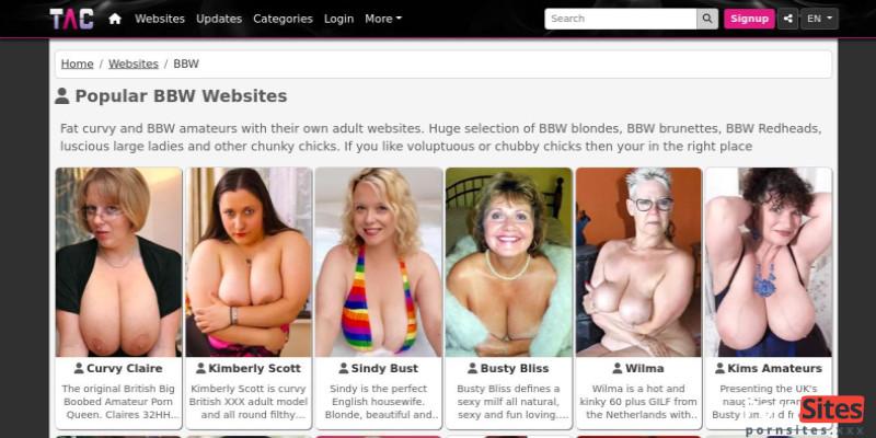 Screenshot TAC Amateurs BBW