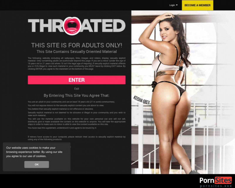 Throated Website From 31. July 2021