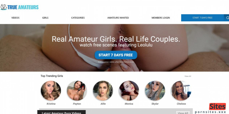 Screenshot TrueAmateurs