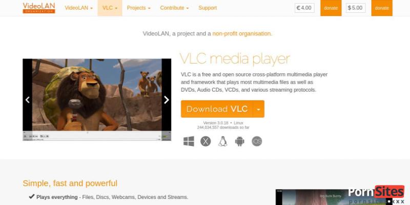 Screenshot VLC Mediaplayer