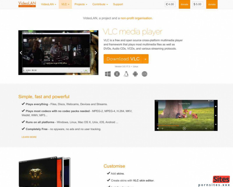 VLC Mediaplayer Website From 20. January 2021