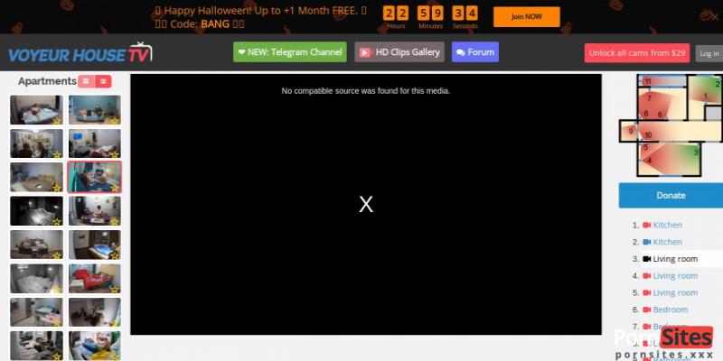 Screenshot Voyeur House TV