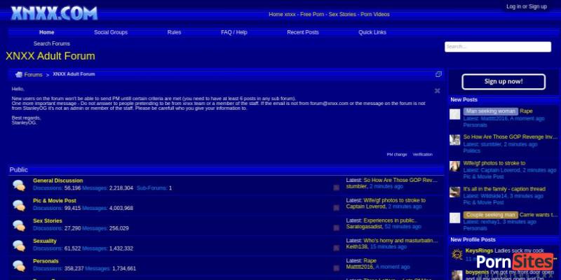 Screenshot XNXX Forum
