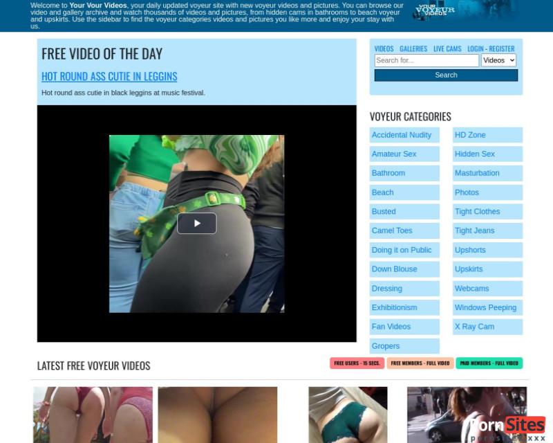 YourVoyeurVideos Webseite Vom 17. Januar 2021